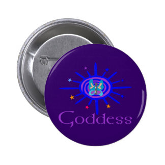 Goddess Sun and Stars 2 Inch Round Button