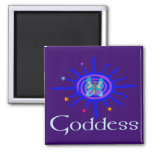 Goddess Sun and Stars 2 Inch Square Magnet