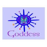 Goddess Sun and Stars Post Card