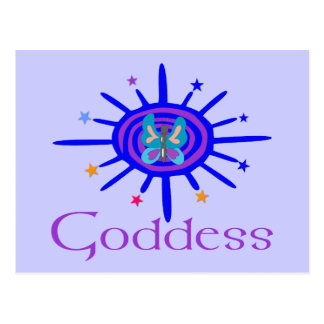 Goddess Sun and Stars Postcard