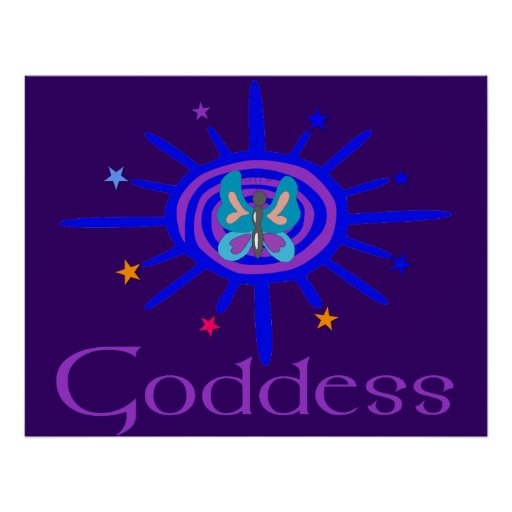 Goddess Sun and Stars Posters