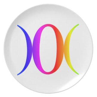 Goddess Symbol #1 Dinner Plate