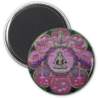 Goddess Tara Mandala 2 Inch Round Magnet