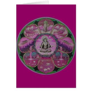 Goddess Tara Mandala greeting card