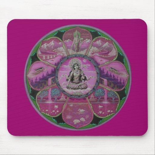 Goddess Tara Mandala Mouse Pad