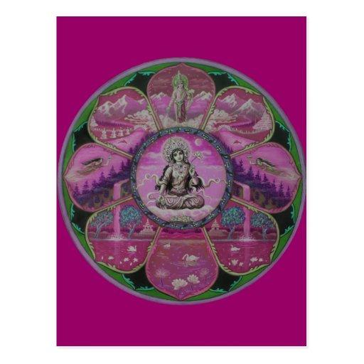 Goddess Tara Mandala postcard