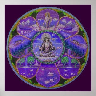 Goddess Tara Mandala Poster
