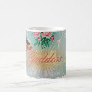 Goddess vintage wallpaper pink roses mug