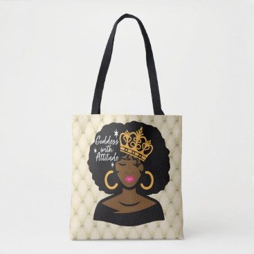 Beach Themed Goddess With Attitude Tote Bag
