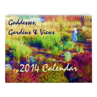 Goddesses, Gardens & Views 2014 Calendar