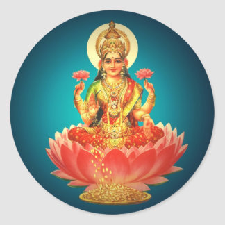 Godess Laxmi Round Stickers