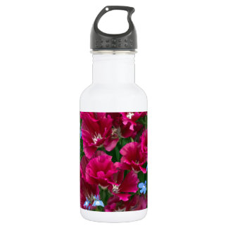 Godetia And Lobelia Stainless Steel Water Bottle