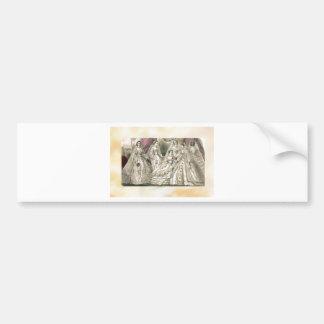 Godey's Ladies Book Victorian Fashion Plate Weddin Bumper Sticker