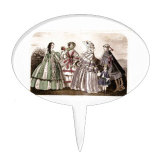 Godey's Ladies Book Victorian Fashion Plate Weddin Cake Topper