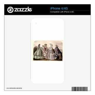 Godey's Ladies Book Victorian Fashion Plate Weddin Decals For iPhone 4