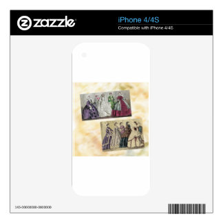 Godey's Ladies Book Victorian Fashion Plate Weddin Skins For The iPhone 4S