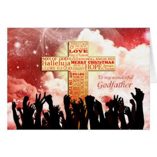 Godfather, a Christian cross Christmas Card