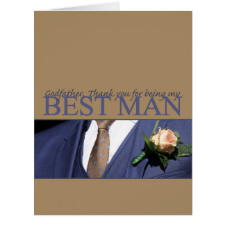Godfather best man thank you card