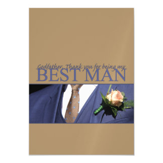 Godfather best man thank you magnetic card