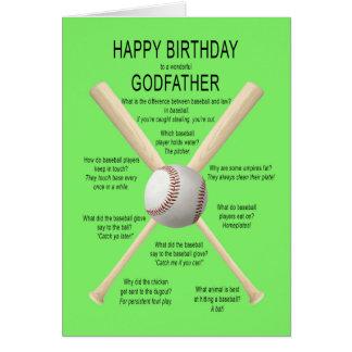 Godfather, birthday baseball jokes card