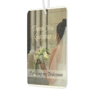 Godfather Bridesman thank you Car Air Freshener