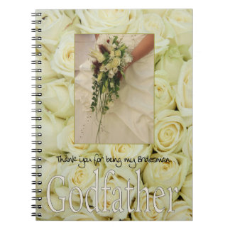 Godfather Bridesman thank you Notebook