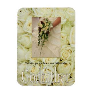 Godfather Bridesman thank you Rectangular Photo Magnet