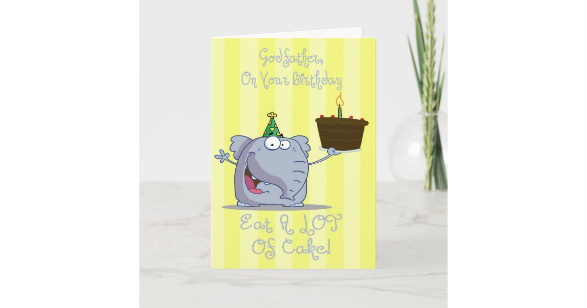 Godfather Eat More Cake Birthday Card
