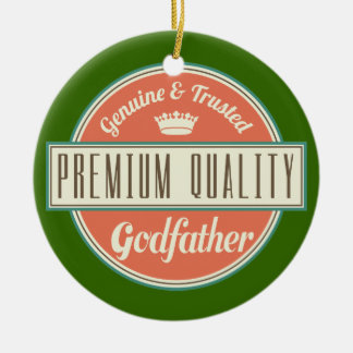 Godfather (Funny) Gift Double-Sided Ceramic Round Christmas Ornament