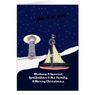 Godfather & His Family Sailboat Christmas Card
