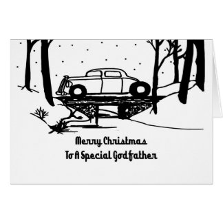 Godfather Hot Rod Christmas Card