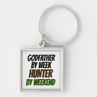 Godfather Hunter Silver-Colored Square Keychain