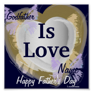 Godfather Is Love Poster-Customize