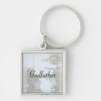 Godfather keyring Silver-Colored square keychain