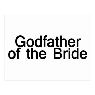 Godfather Of The Bride Postcard