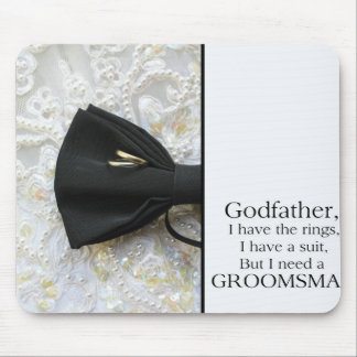Godfather  Please be my Groomsman - invitation Mouse Pad