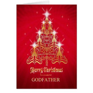 Godfather, Stylized Christmas tree Christmas card