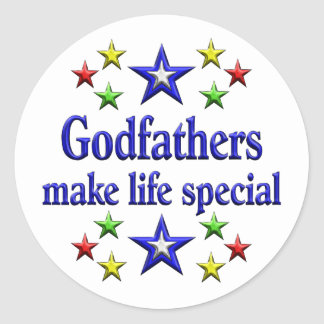 Godfathers are Special Classic Round Sticker