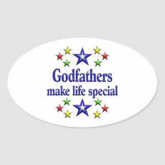 Godfathers are Special Oval Sticker