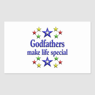 Godfathers are Special Rectangular Sticker