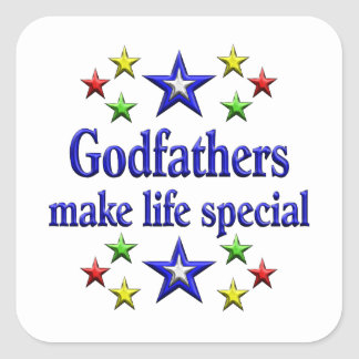 Godfathers are Special Square Sticker