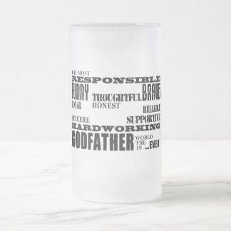 Godfathers Birthdays & Christmas : Qualities 16 Oz Frosted Glass Beer Mug