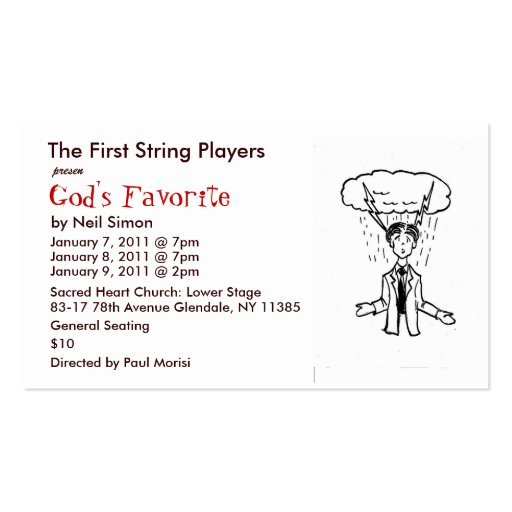 GodFav01 - Copy, The First String Players, pres... Double-Sided Standard Business Cards (Pack Of 100)
