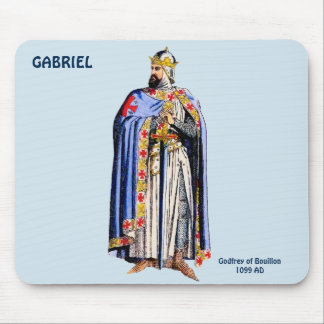 Godfrey Bouillon Costume~Personalised for GABRIEL~ Mouse Pad