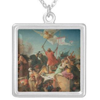 Godfrey de Bouillon, French Crusader Square Pendant Necklace