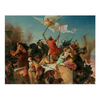 Godfrey de Bouillon, French Crusader Postcard