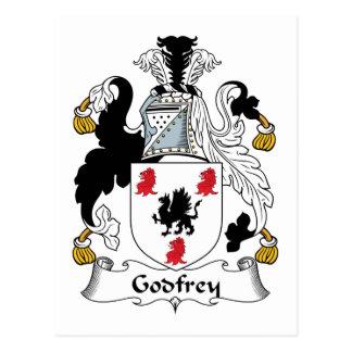 Godfrey Family Crest Postcard