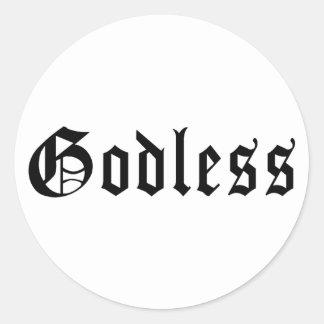 Godless 1 classic round sticker