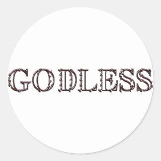 Godless Classic Round Sticker