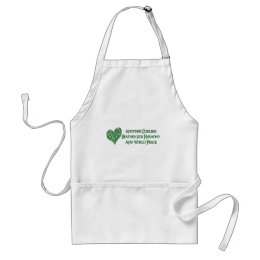 Godless For World Peace Adult Apron